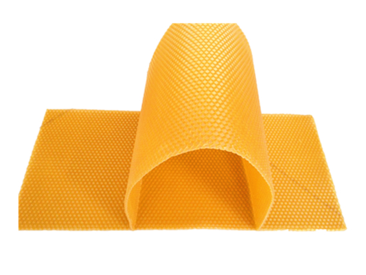 Honey Bee Products Yellow Color Customized Beeswax Foundation Sheets