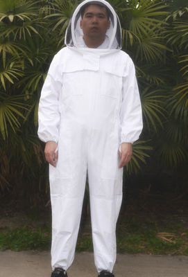 Good Quality Beekeeping Gloves & High Quality Cotton And Terylene Beekeeping Protective Suit With Fencil Veil on sale