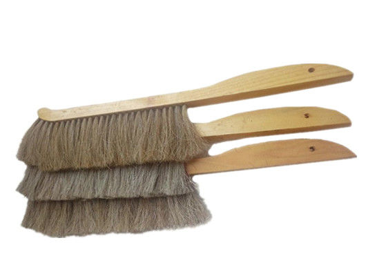 Double Rows Horsehair Bee Brush Wooden Handle for Beekeepers