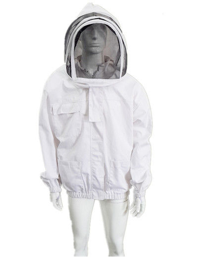 Economic Bee Jacket With Zippered Hood Beekeepers Protective Clothing S-2XL