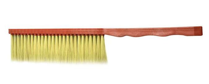 One Row Plastic Handle Horsehair Bee Brushes For Beekeeping
