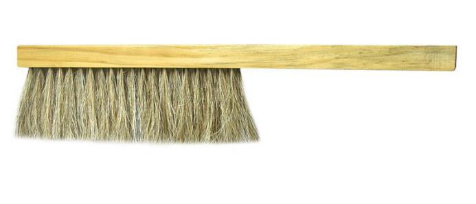 Long Handle Horsehair Bee Brush Two Double Rows in Yellow Color