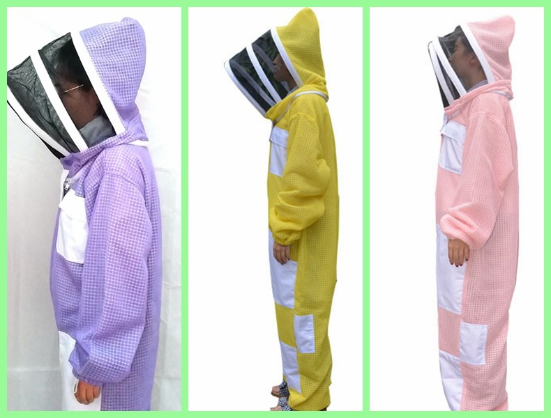 New Type Three layer Ventilated Bee Suit Yellow , Pink, Purple Color