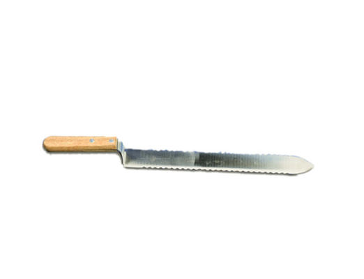 China Stainless Steel Double Serrated Uncapping Knife with Wooden Handle of Honey Uncapping Tools factory