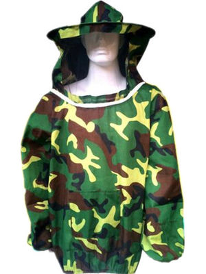 Free Size Polyester Camouflage Beekeeping Jacket With Protective Bee hat