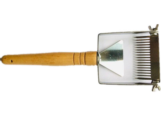 Small Wooden Handle Uncapping Fork Beekeeping Brush With Adjustable Screw
