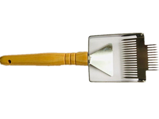 Mini Honey Uncapping Tools Bee Brush Stainless Steel Double Head Handle